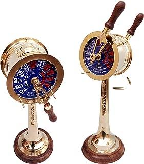 Antique Brass Ship's Engine Order Telegraph 15