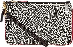 Coach X Disney Keith Haring Mickey Maze Small Wristlet