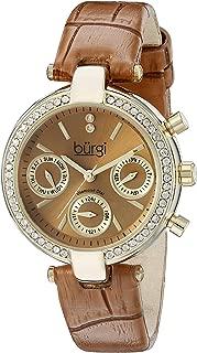 Burgi Women's Classic Analogue Display Swiss Quartz Watch with Leather Strap