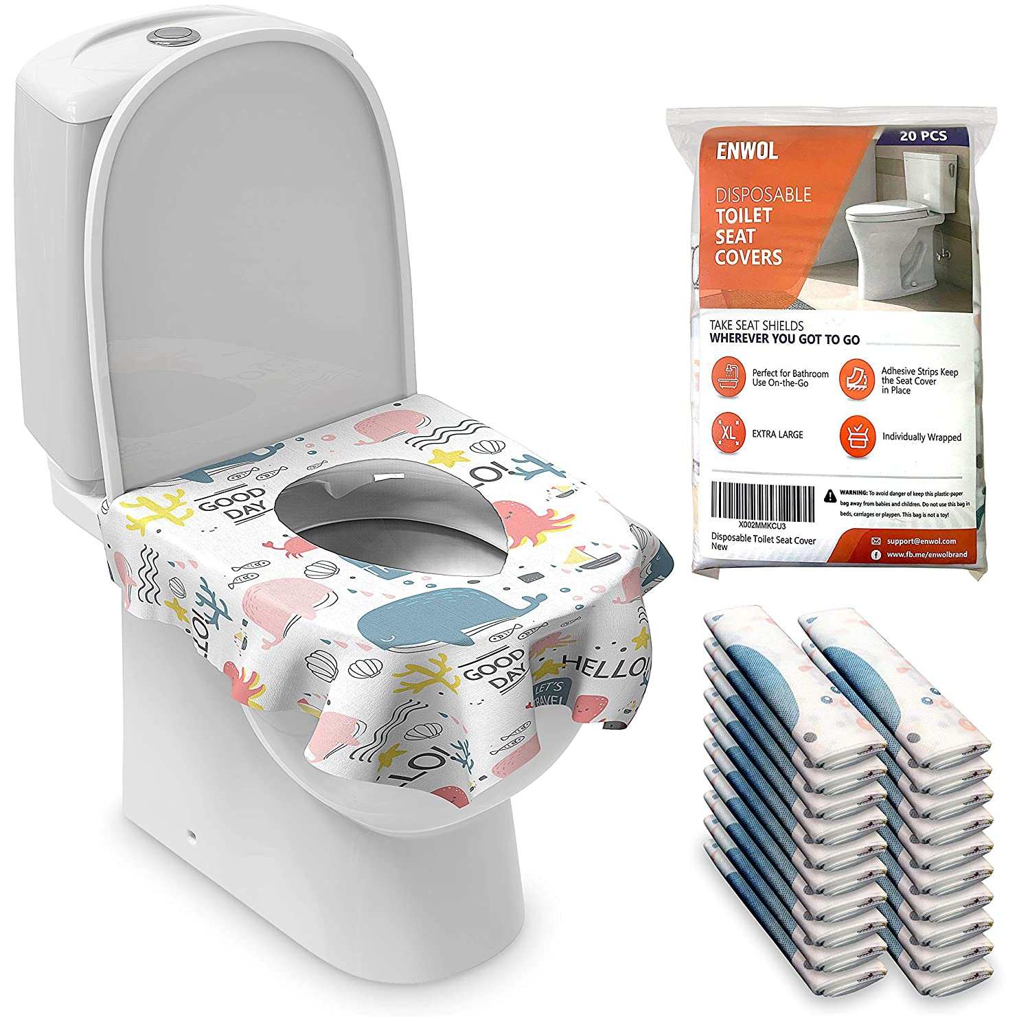 XL Toilet Seat Covers Disposable for Max 83% OFF - 20 Max 65% OFF Kids Pack Fu Toddler