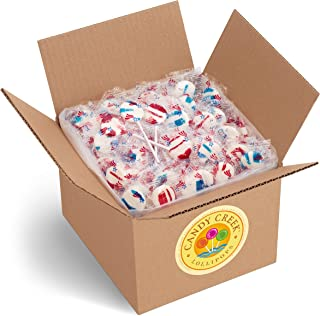 Patriot Lollipops by Candy Creek, Bulk 5 lb. Carton, Wild Strawberry and Blueberry Blast
