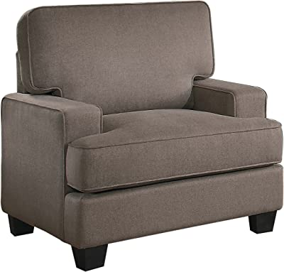 Homelegance Kenner Arm Chair Modern Classic T-Cushion Design Polyester, Brown