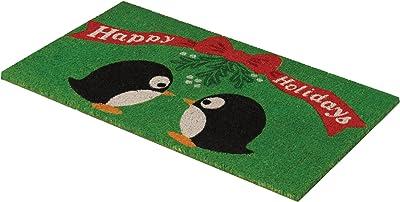Design Ideas Mistletoe Penguins Doormat