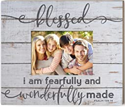 Kindred Hearts Weathered Slat Frame Blessed Fearfully Wonderfully Made, Multicolor