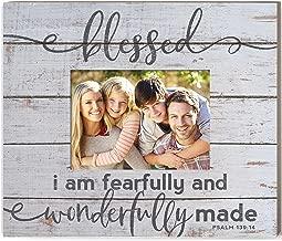 Kindred Hearts 5x7 Photo Weathered Whitewash Slat Photo Frame Fearfully Wonderfully Made