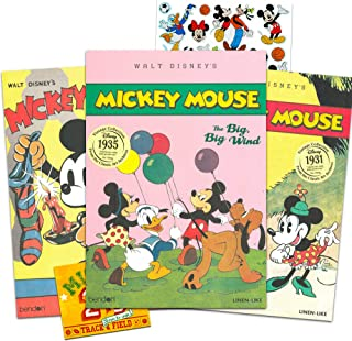 Disney Classic Mickey Mouse Storybook Collection for Toddlers Kids ~ Bundle Includes 3 Vintage Mickey Books and Bonus Stickers (Classic Disney Books Vintage Collection)