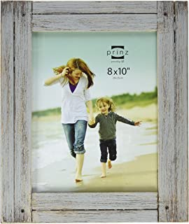 PRINZ Homestead Distressed Wood Frame, 8 by 10-Inch, Gray