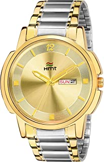 HEMT Analog Gold Dial Men's Watch-HM-GR095-GLD-SLV