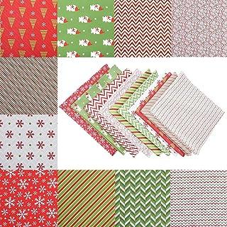 Tecido de algodão de Natal, padrão clássico de Natal idílico estilo country DIY para bolsas, travesseiros, aventais, ornam...