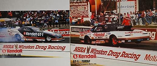 1992 / 1994 - NHRA / Winston Drag Racing - 2 Hero Cards - Kendall GT-1 Racing Team - John Asta : Super Gas / Trans-Am - Frank Manzo : T/A Funny Car - Dodge Daytona - OOP - Like New - Collectible