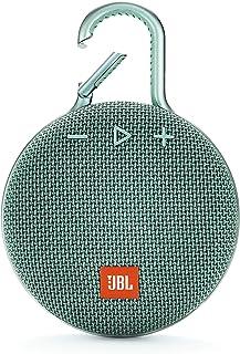 JBL Clip 3 Bluetooth Lautsprecher in Türkis – Wasserdichte, tragbare Musikbox mit praktischem Karabiner – Bis zu 10 Stunde...