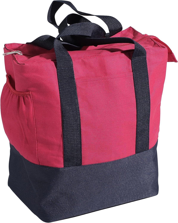 Nantucket Bicycle Basket Co. Portland Rear Pannier Bag, Pink Navy blueee