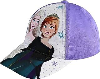 قبعة ديزني للأطفال للبنات الصغيرة الأعمار 4-7 إلسا وآنا قبعة بيسبول