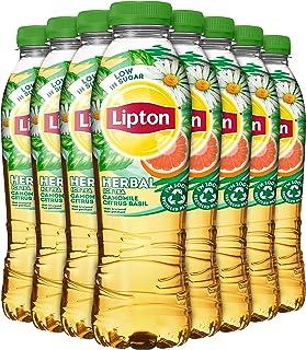 Lipton Camomile Citrus Basil Herbal Ice Tea, Verfrissende Herbal Ice Tea - 12 flessen - 500 ml - Voordeelverpakking