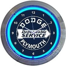 Neonetics Dodge Dependable Service Neon Clock