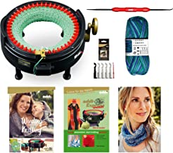 New Improved Version Of addi Express Kingsize Extended Starter Kit With New Improved Mechanical Row Counter. Knitting Machine, 2 Pattern Books, Hook, Replacement Needles, Stopper, Yarn