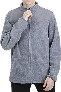 guangmu USA Men's Polar Fleece Jacket Full-Zip Mock Neck Winter Mountain Coat