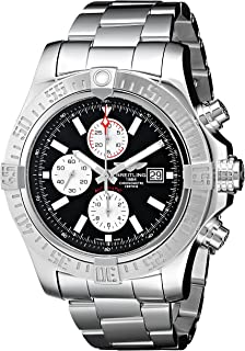 Breitling Mens BTA1337111-BC29SS Super Avenger II Analog Display Swiss Automatic Silver Watch