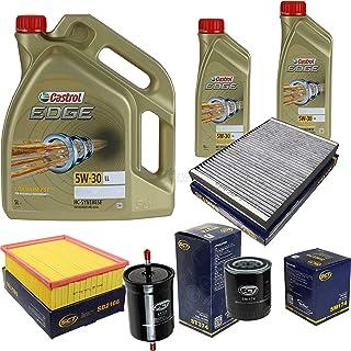 Filter Set Inspektionspaket 7 Liter Motoröl Castrol EDGE Titanium FST 5W 30 LL SCT Germany Innenraumfilter Kraftstofffilter Luftfilter Ölfilter