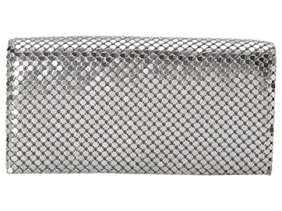 Jessica McClintock East/West Metal Mesh Roll Bag (Silver) Cross Body Handbags