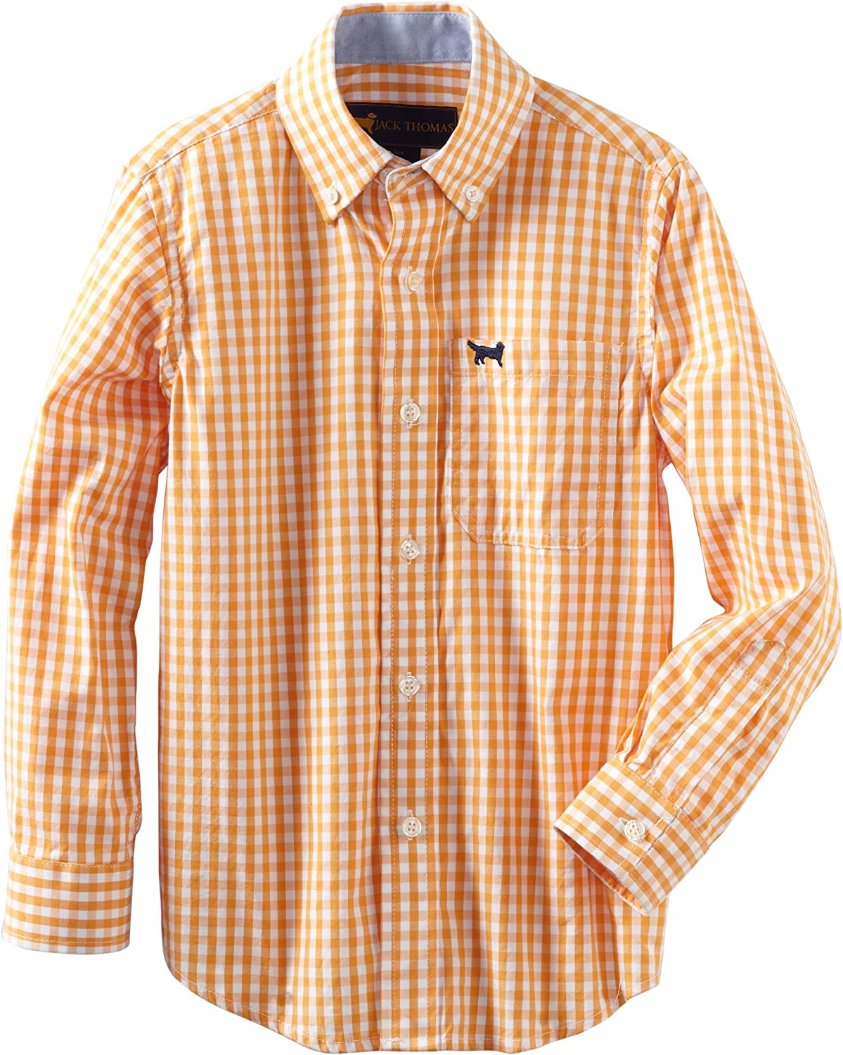 Wes and Willy Little Boys' Long-Sleeve Small Gingham Dress Shirt
