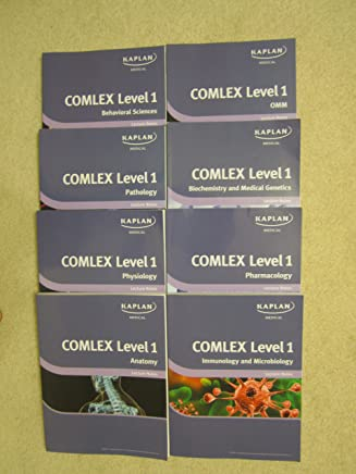 Kaplan Medical COMLEX Level 1 Lecture Notes (2011 Edition) Set of 8 Books (Anatomy, Biochemistry and Medical Genetics, Immunology and Microbiology, Omm, Pathology, Pharmacology, Physiology, Behavioral Science)