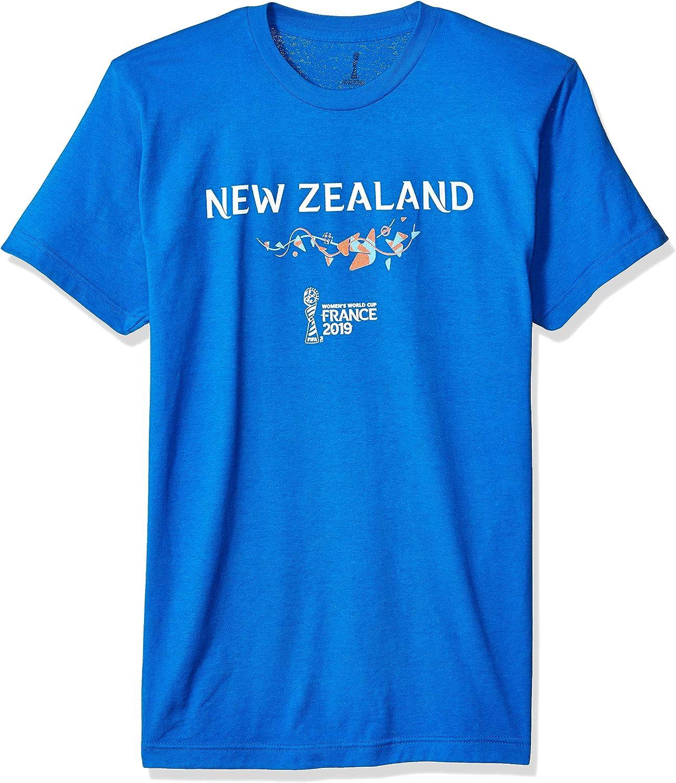 FIFA Mens FFWF002710001004 Officially Licensed New Zealand Men's Tee Short Sleeve Shirt  blueee