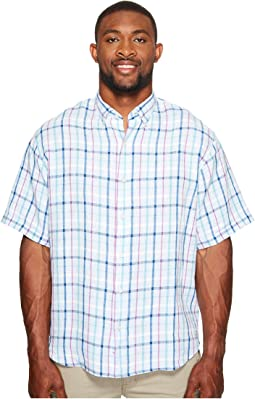 Tommy Bahama Big & Tall Big & Tall Celestia Plaid Camp Shirt