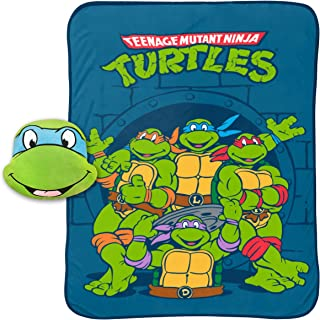 Jay Franco Nickelodeon Teenage Mutant Ninja Turtles Leonardo Plush Nogginz Pillow and 62
