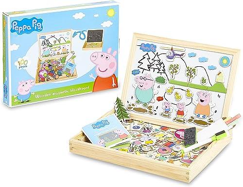 Peppa Pig Jeux Enfant 3 Ans Tableau Double Face Blanc Et Ardoise Pour Enfants Avec 100 Pièces Puzzle Magnétique Jouet...