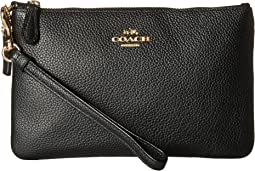 COACH - Polished Pebble Small Wristlet