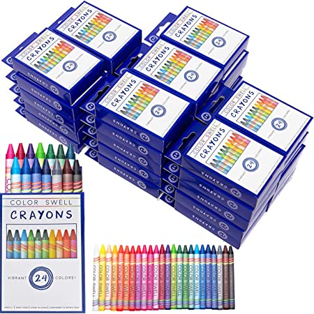 Tuck Boxes 8 Colors//Box Large Crayons 54 Boxes