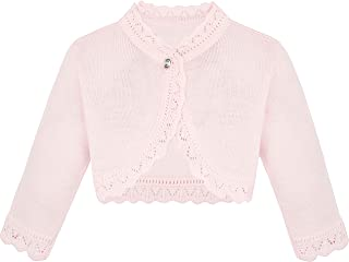 075359d754a Lilax Little Girls  Knit Long Sleeve Button Closure Bolero Cardigan Shrug