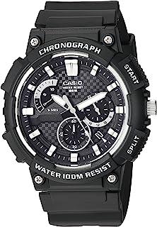 Men's Retrograde Quartz Watch with Resin Strap, Black, 27...