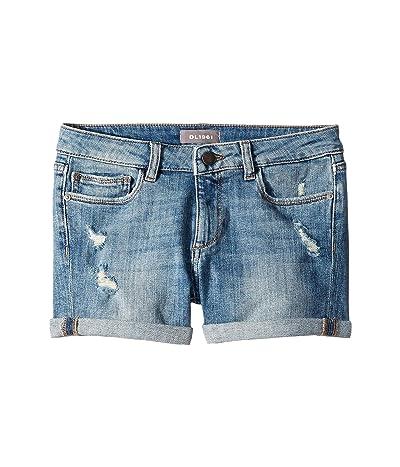 DL1961 Kids Piper Cuffed Shorts in Dorado (Big Kids) (Dorado) Girl