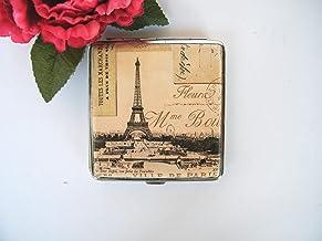 Pitillera Dura 9 cm Caja para Cigarrillos Tabaquera Estuche Regalo Tarjetero Vintage Paris Card
