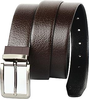 CREATURE Men's Genuine Leather Black & Brown Reversible Belt(Colour-Black & Brown||Italian Leather||E-002||REVERSIBLE)