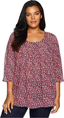 Plus Size Tiny Wildflower Flowy Top