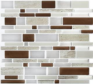 Peel & Impress Peel&Impress Self Adhesive backsplash Tile - Brown Stone Oblong - 11.25