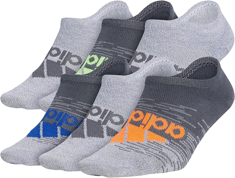 adidas boys Kids-boy's/Girl's Superlite No Show Socks (6-pair)