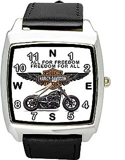 TAPORT Harley Davidson Motor Quartz Square Sport Watch Band + Spare Battery + Gift Bag