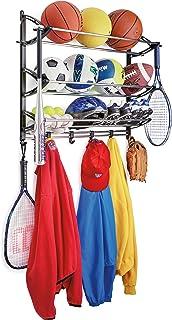 Lynk Rack with Adjustable Hooks Equipment Organizer/Sports Gear Storage Black