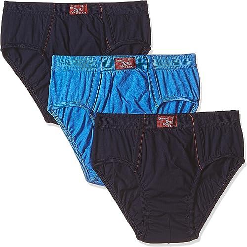 Rupa Jon Men s Cotton Brief Pack of 3 8903978687698 JN Brief Navy Sky AIRF