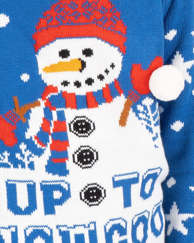 NOROZE Kids Christmas Jumpers Boys Girls Retro Elf Snowman Santa Fairisle Reindeer Novelty Sweater Children Gifts Xmas Jumper