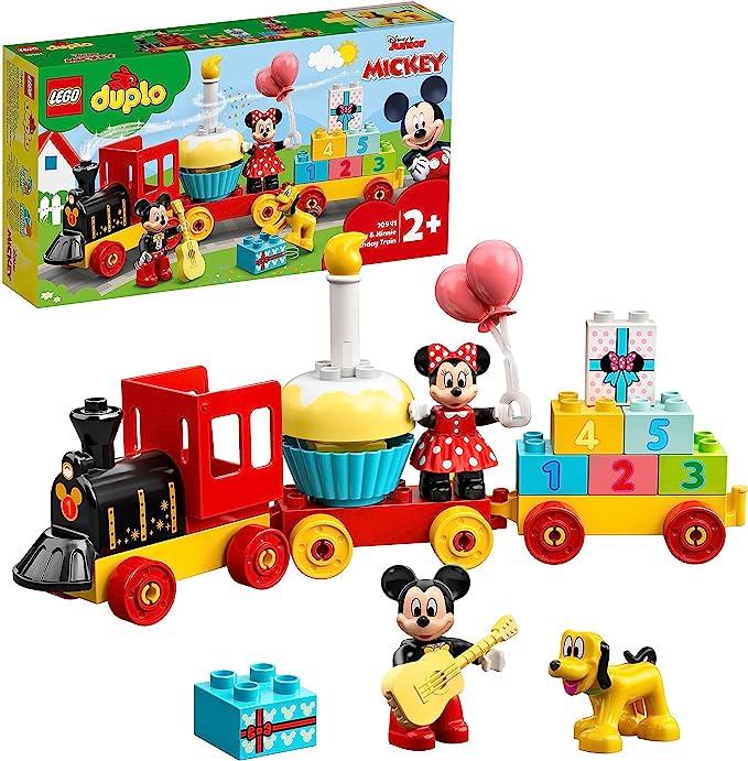 LEGO10941DuploDisneyTrendeCumpleañosdeMickeyyMinnie,TrendeJugueteparaNiños,IncluyeaPastelyGlobosdeCumplea&nti