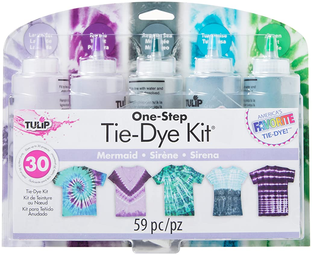 Tulip One-Step Tie Dye 5-Color Kit, Mermaid