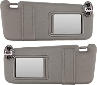 IAMAUTO 80922 New Sun Visor Left and Right Gray Pair for 2007-2011 Toyota Camry with Vanity Light in Ceiling (Set of Driver and Passenger Side Visors)