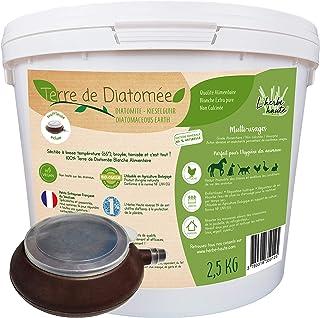 l'herbe Haute ® Terre de Diatomée Blanche Alimentaire - 2,5 kg Seau avec souffleuse - Utilisable en Agriculture Biologique...