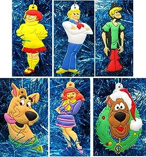 Ornament Scooby DOO Holiday Christmas Set - Unique Shatterproof Plastic Design