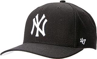 '47 Men's NY Yankees Black Audible Snapback MVP DP Caps-Sports Clothing, Black, One Size